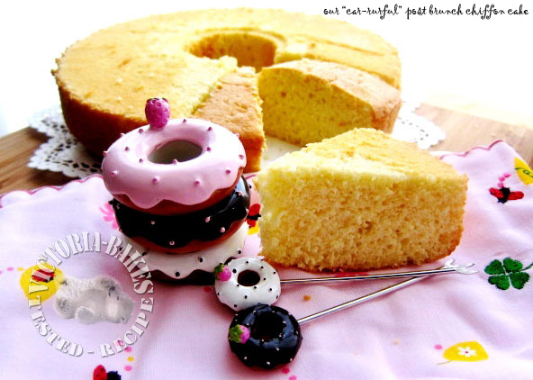the sneaky bake ~ coconut & vanilla bean chiffon cake