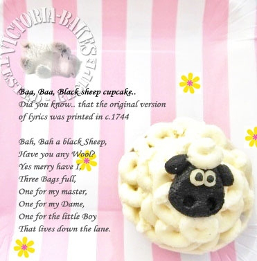 Baa Baa Black Sheep cupcake