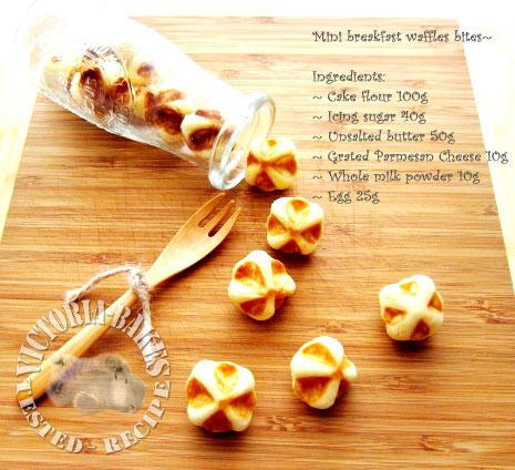 mini waffle bites