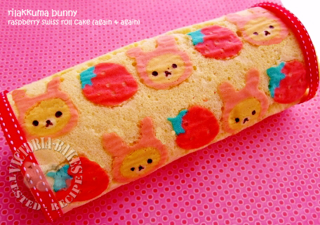 rilakkuma raspberry swiss roll