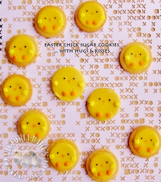 easter chick sugar cookie