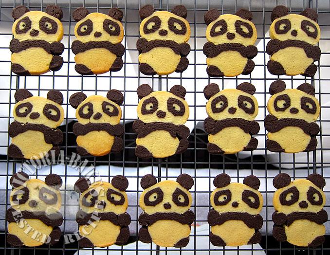 tray of pandas