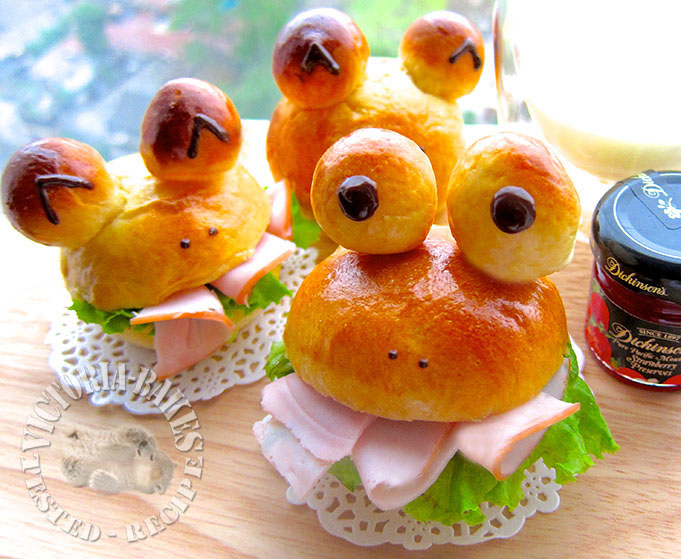 ham & cheese breakfast buns