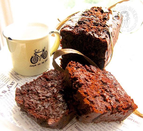 double chocolate zucchini bread: Avid Baker's Challenge September 2013  (●♡∀♡)