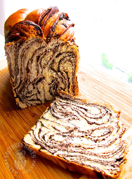 chocolate marbled loaf