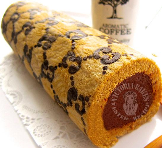 coffee swiss roll