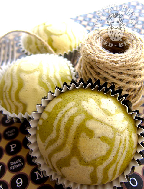 steamed matcha cupcake