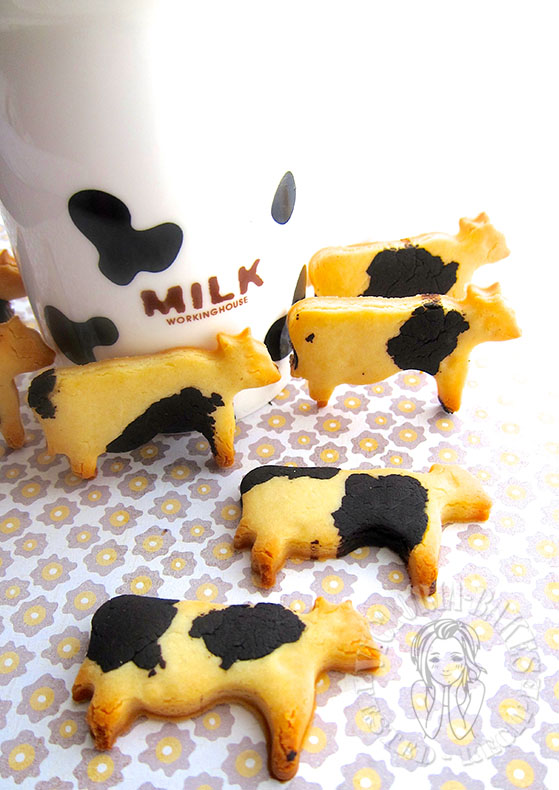condense milk moo-moo cookies ~ and your kids can help (* >ω<)