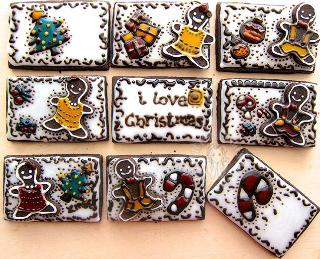 christmas chocolate cookies 圣诞巧克力曲奇饼  ˓˓(ृ  ु ॑꒳')ु(ृ'꒳ ॑ ृ )ु˒˒˒