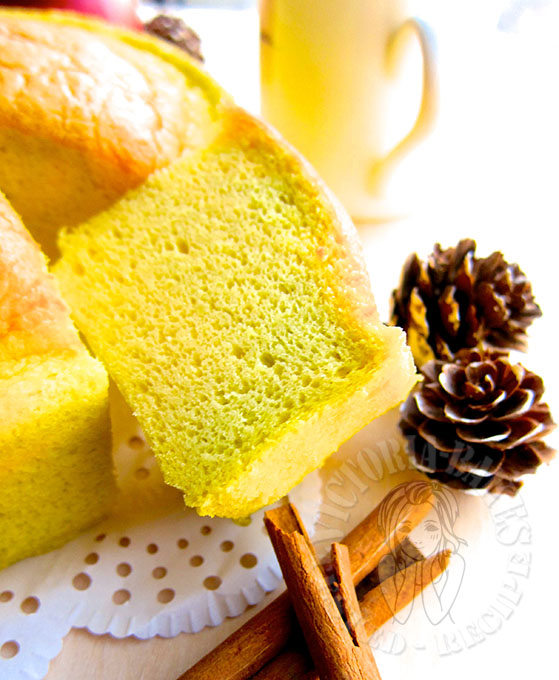 pandan ogura cake