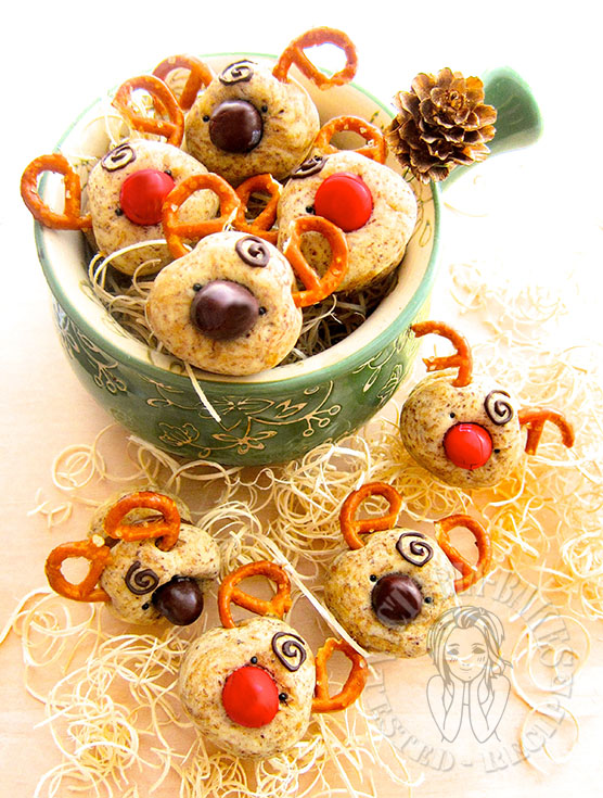 reindeer espresso shortbread kisses 馴鹿咖啡酥饼 (○'ω'○)