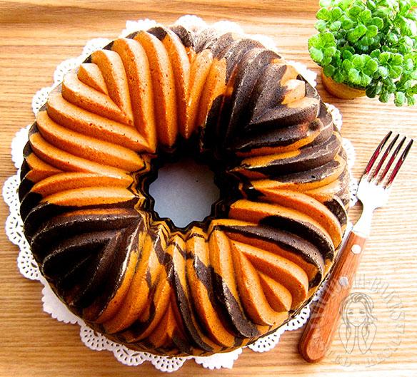 Zebra Bundt Cake 斑马 Bundt 蛋糕( ・ X ・ ) Victoria Bakes