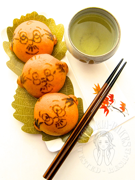 otosan chewy pumpkin hee pan (with drawing instructions) 老爹QQ南瓜喜粄 (附彩绘图解)(੭ु˙꒳​˙)੭ु⁾⁾