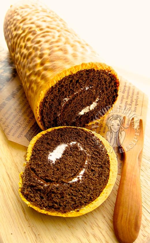 tiger skin chocolate swiss roll 虎皮可可蛋糕卷 φ( ●⌒へ ⌒〃)o