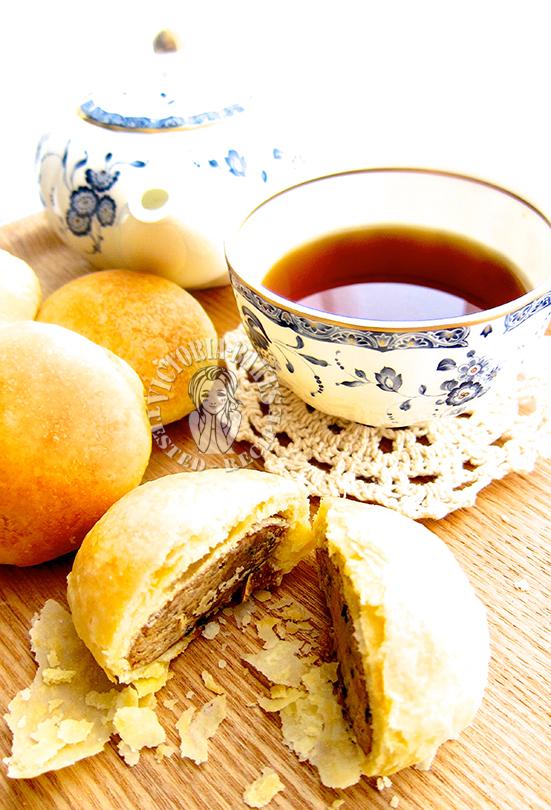 heung peng/beh teh sor (aromatic puff) 香饼/马蹄酥 (◎ヮ◎)
