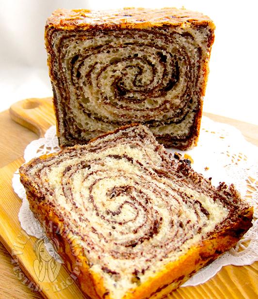 super soft chocolate marble bread 超级柔软巧克力大理石吐司 (∩˃o˂∩)♡
