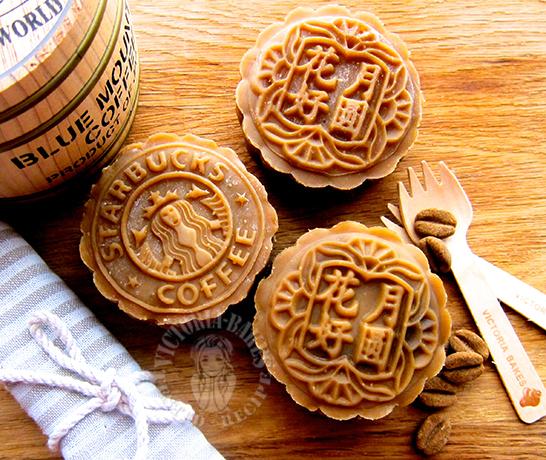 coffee mochi mooncake 咖啡麻糬月饼 ⸂⸂⸜(രᴗര๑)⸝⸃⸃