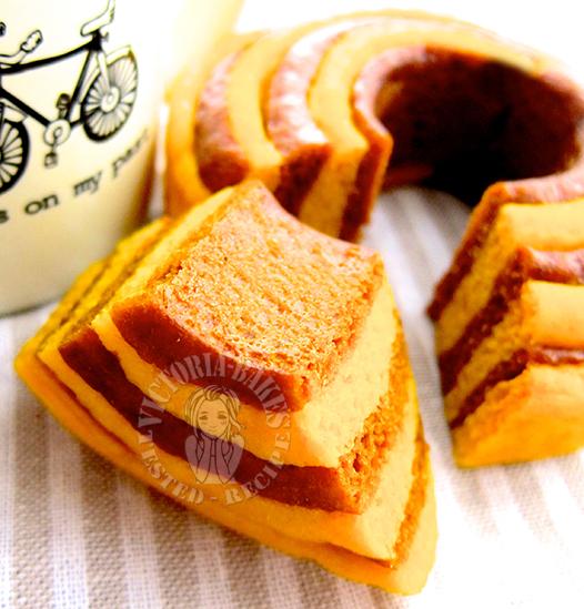 pumpkin layered mantou (steamed bun) 南瓜年轮馒头 (*⌒▽⌒*)θ~♪