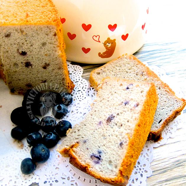 blueberry chiffon cake 蓝莓戚风蛋糕