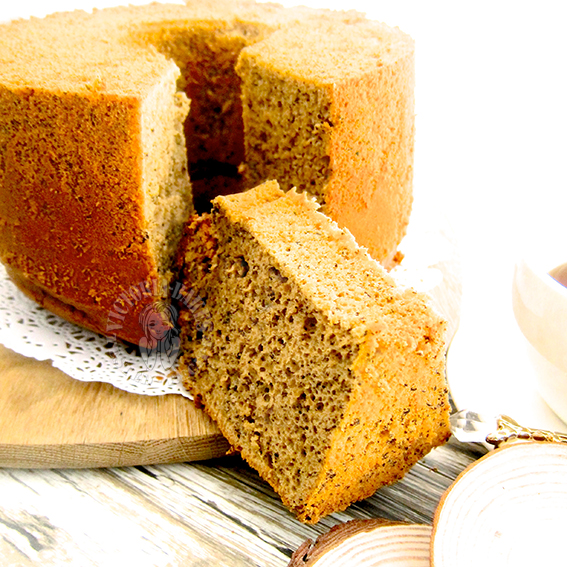 earl grey milk tea chiffon cake 伯爵奶茶戚风蛋糕