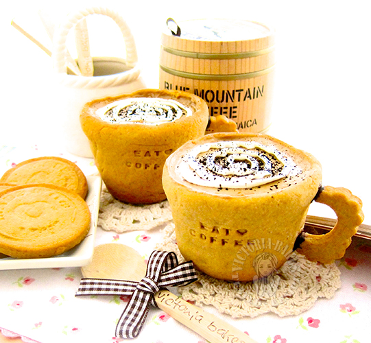 Best Recipes #6 My Homemade cookies: old fashion coffee pudding in cookie cups 最棒食谱 #6 の我的拿手曲奇饼干: 老式咖啡布丁曲奇杯