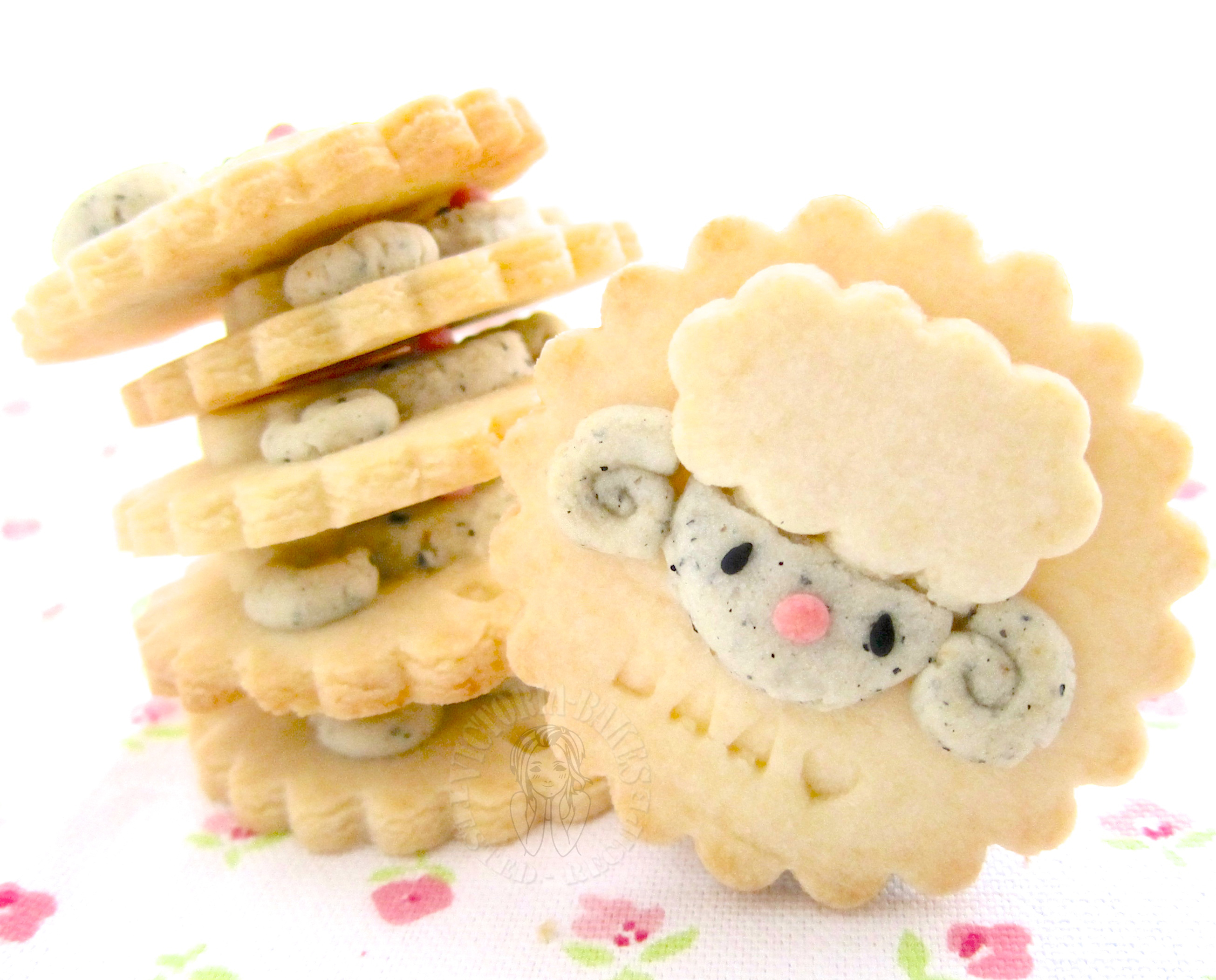 Best Recipes #6 My Homemade cookies: little sheep soy milk cookies 最棒食谱 #6 の我的拿手曲奇饼干:小绵羊豆浆曲奇