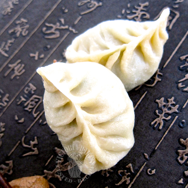willow leaf steam buns (cooked dough method) 烫面柳叶包