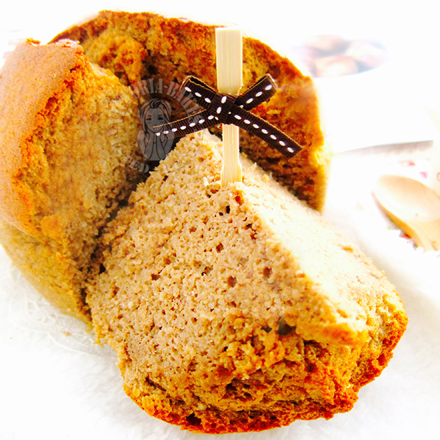 autumn's joy ~ chestnut chiffon cake 金秋蛋糕~ 栗子戚风