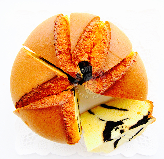 how to make hot cross chiffon cake (with detailed pictorial) 教你做戚风拜拜蛋糕(附详细图解)