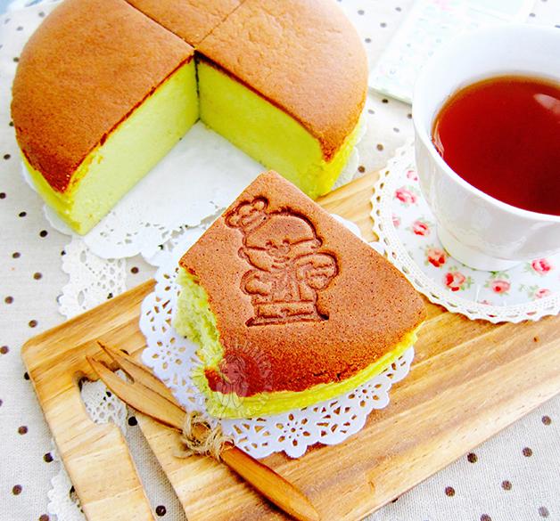 pandan coconut light cheesecake 班兰椰香轻乳酪蛋糕