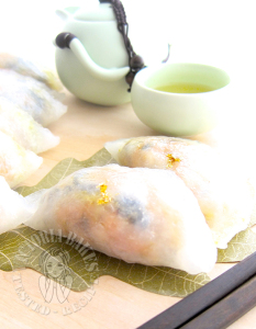 buddha's delight crescent dumplings 罗汉斋粉粿 。^‿^。