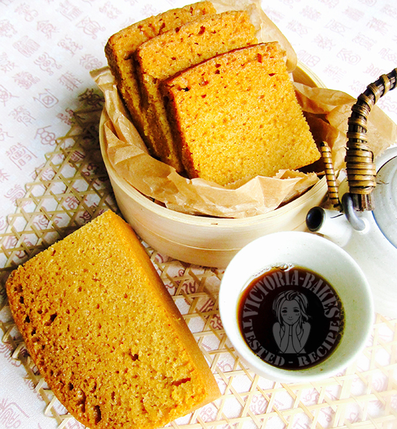 traditional cantonese teahouse dim sum: brown sugar cake sponge ~ highly recommended 广式茶楼传统糕点:黄糖糕~强推