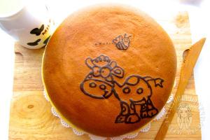 """painted"" japanese cheesecake ~ gorgeously yummy 手绘日式奶酪蛋糕 ~超好次!"