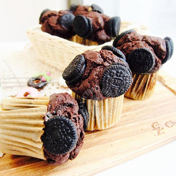 very chocolate chocolate muffins ~ very yummy yummy 超巧克力马芬~好吃到不要不要哒