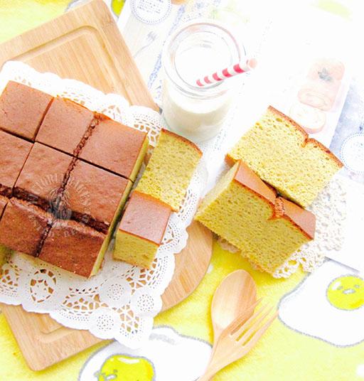 caramelised gula melaka banana chiffon cake 马六甲椰糖焦糖香蕉戚风蛋糕