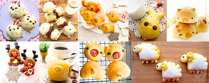 shaping animal bread 动物餐包篇