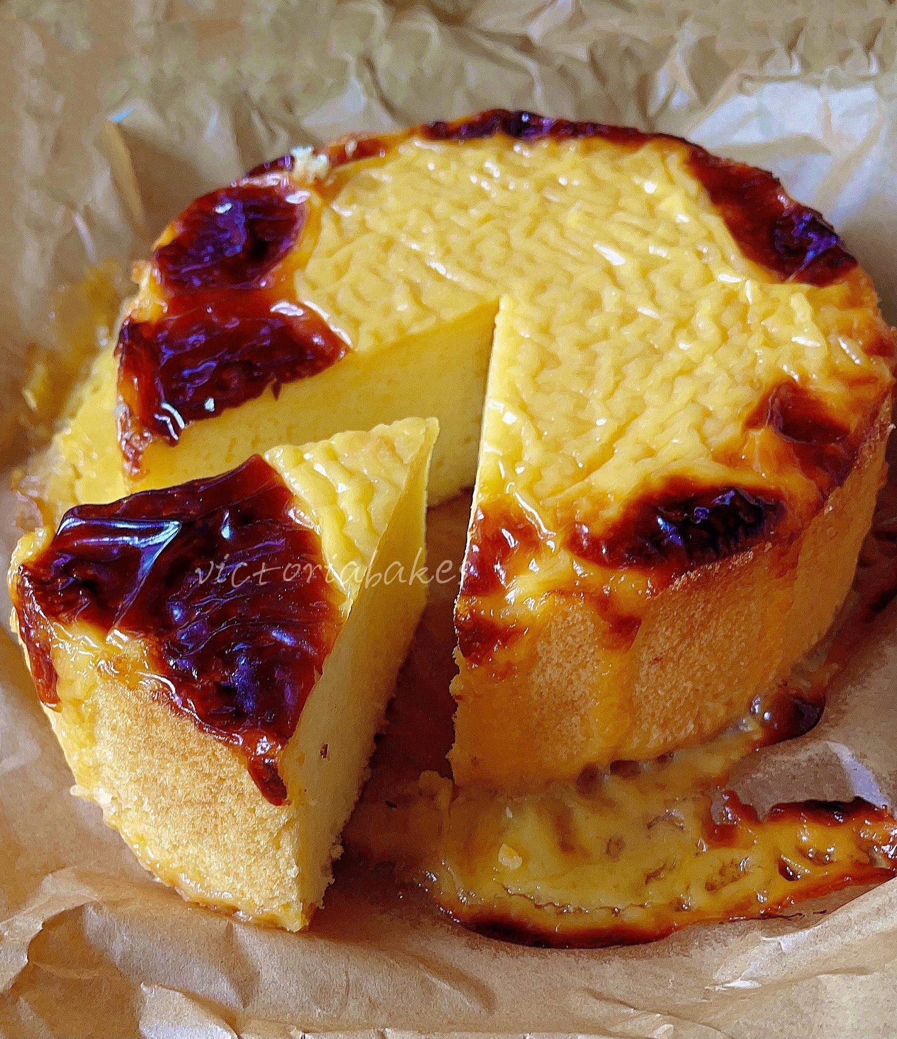 cheese lava chiffon cake