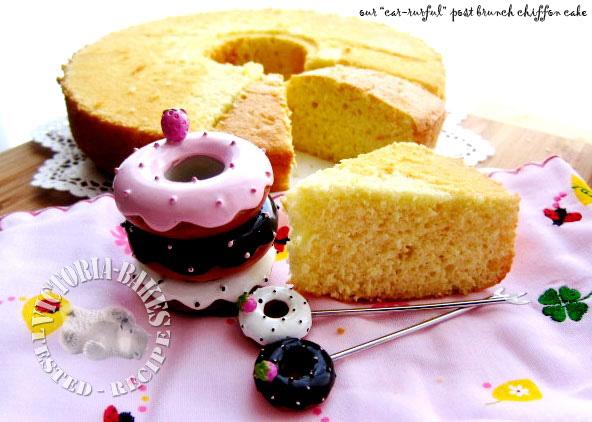 the sneaky bake ~ coconut & vanilla bean chiffon cake