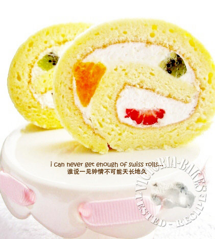 tutti~fruity swiss roll