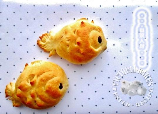 goldfish red bean buns