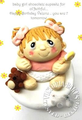 baby girl fondant…