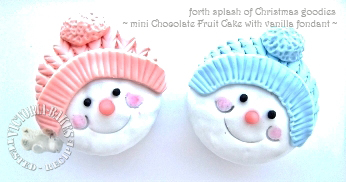 """Frosty the Snowman ~ chocolate fruit """"cup""""cake"""
