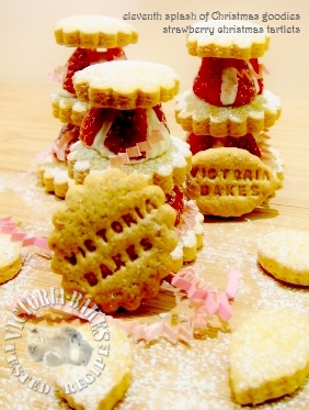 eleventh splash of Christmas goodies ~ strawberry x'mas tartlets