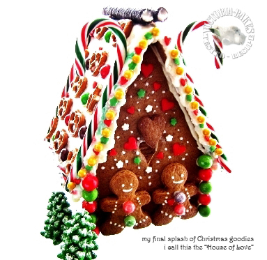 final splash of christmas goodies ~ gingerbread house