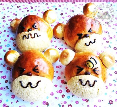 honey pumpkin bear bread