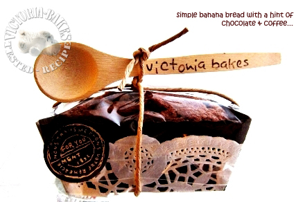 Flour's Famous Banana Bread ~ with a hint of chocolate and coffee