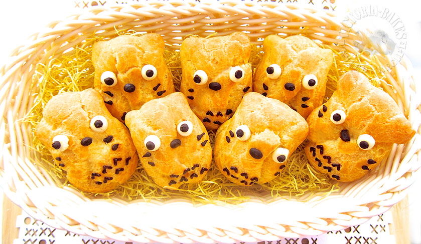 baby totoro durian custard cream puffs ~ Aspiring Bakers #33