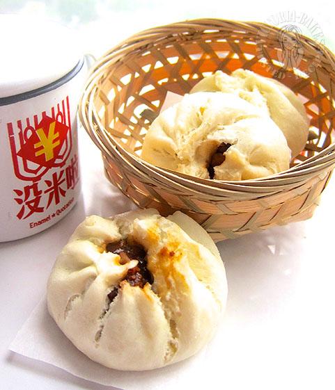 traditional char siew pau with homemade char siew (⌒▽⌒)☆