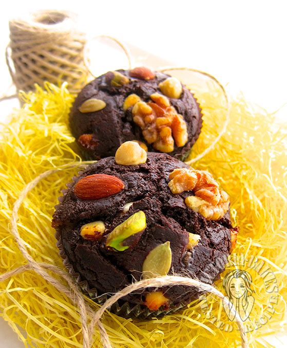 double chocolate muffins(*^^)/~~~~~~~~~~◎