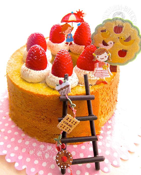 coffee swirl chiffon cake (〜 ̄▽ ̄)〜
